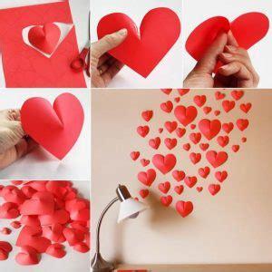 contoh cara membuat origami love cara kreatif menghias dinding kamar tidur dari kertas