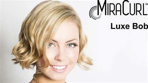 miracurl work on short hair miracurl short hair miracurl how to luxe bob youtube
