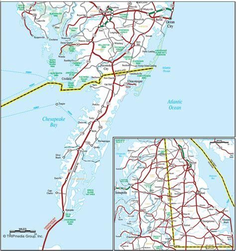 maryland map eastern shore chesapeake bay virginia eastern shore map