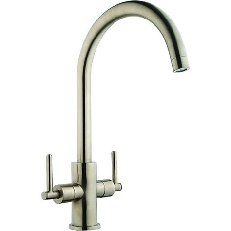 wickes kitchen sink taps wickes chanab monobloc mixer brushed tap wickes co uk