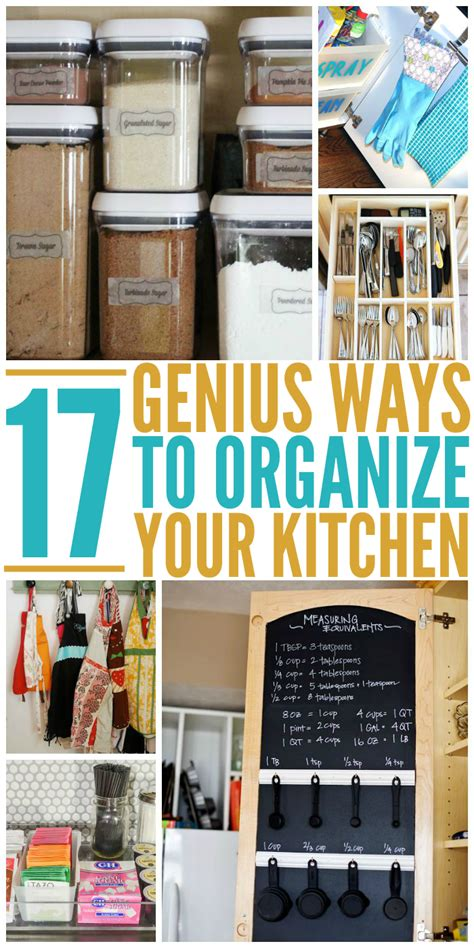 ways to organize your kitchen genius tricks to show you how to organize your kitchen