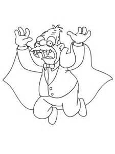 opa is een vampier vleermuis voor halloween kleurplaat