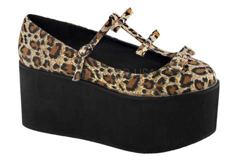 click 08 leopard platform shoes