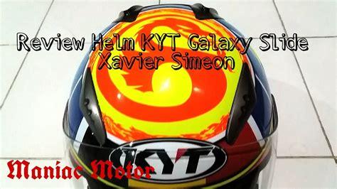 Helm Kyt Galaxy Slide Visor review helm kyt galaxy slide motif xavier simeon