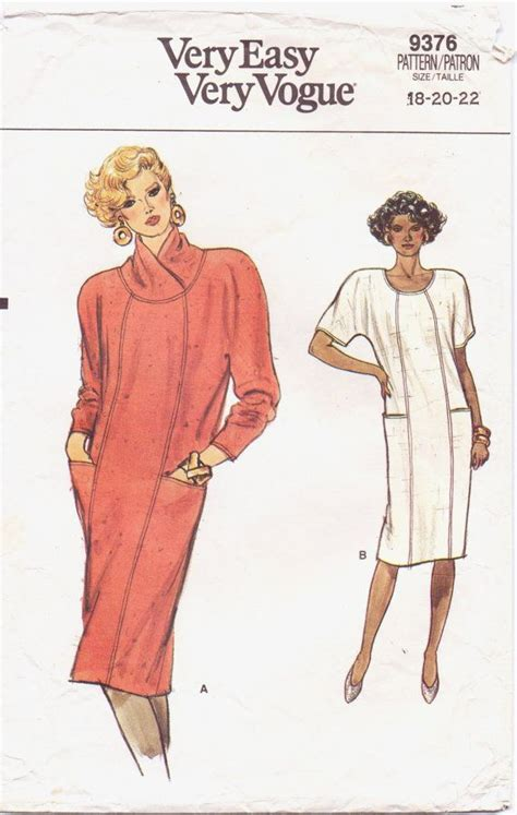 vogue pattern ease 80s very easy very vogue pattern 9376 womens pullover