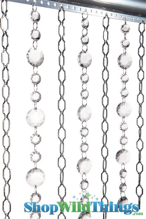 chain curtain cameo silver chain curtain with round crystal acrylic beads