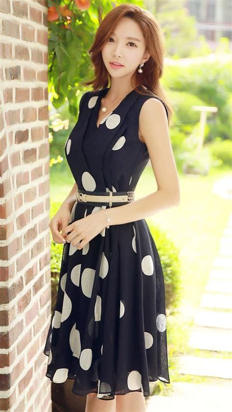 Jfashion Korean Style Midi Dress Motif Dotted 25 best ideas about summer dresses for on summer dresses summer