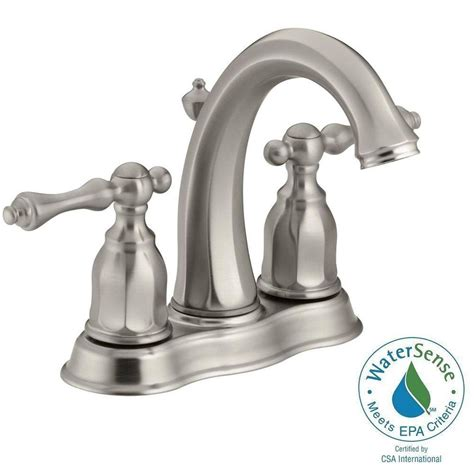 Water Conservation Faucets by Kohler Kelston 4 In 2 Handle Mid Arc Water Saving