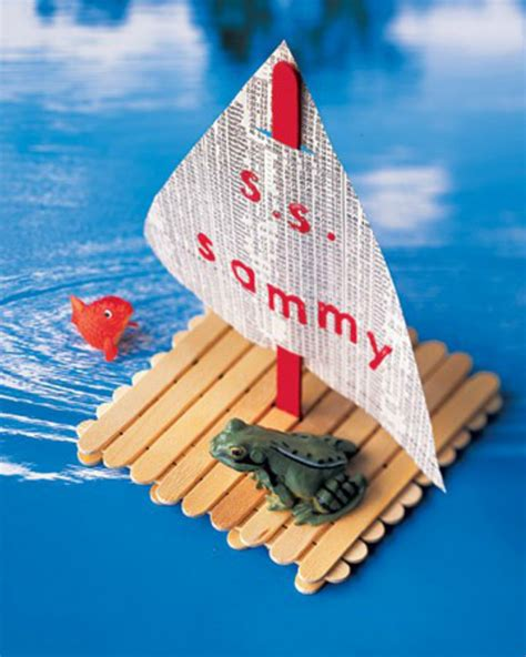 kid craft boats diy popsicle stick boat for crafts