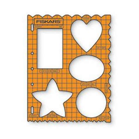 fiskars shape template assorted shapes officeworks