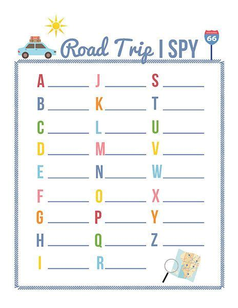 printable games for road trips printable car games for kids a must for your next road