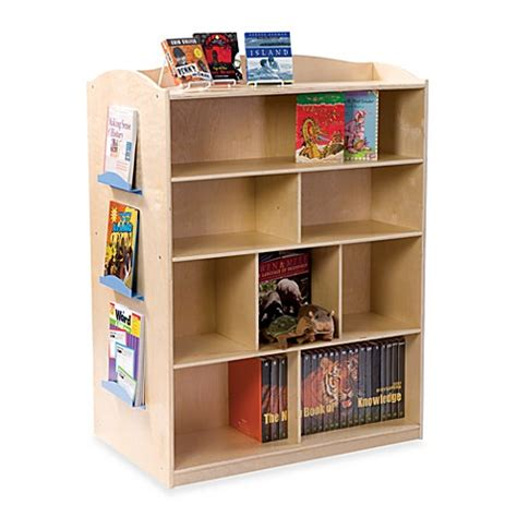 bed bath and beyond bookshelf guidecraft double sided bookcase bed bath beyond