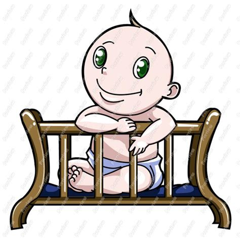 Crib Clipart by Clip Baby Boy Crib Clipart Clipart Suggest