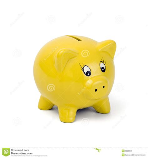 Yellow Bankers L by Yellow Piggy Bank Stock Images Image 9226864
