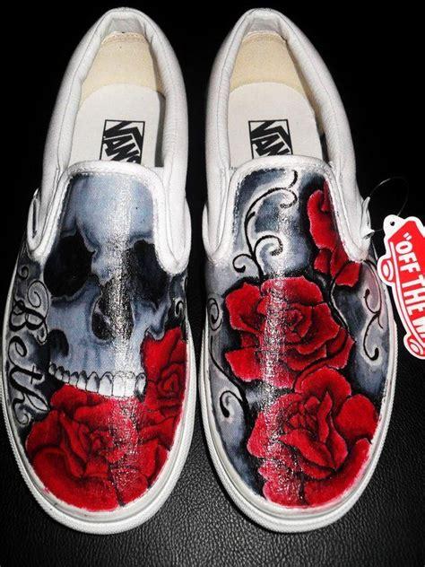 skull  roses vans  ryanschipperdeviantartcom