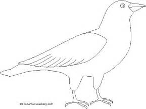 bird cut out template coloring home