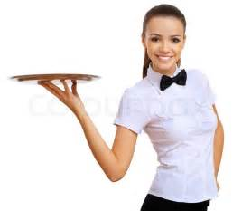 Craftman Home Plans Young Waitress With An Empty Tray Stock Photo Colourbox