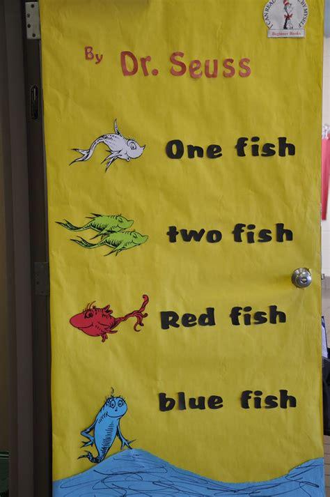 dr seuss one fish two fish classroom door decorations