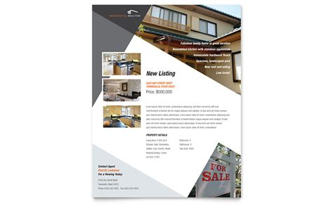 publisher template card modern contemporary modern real estate flyer template word