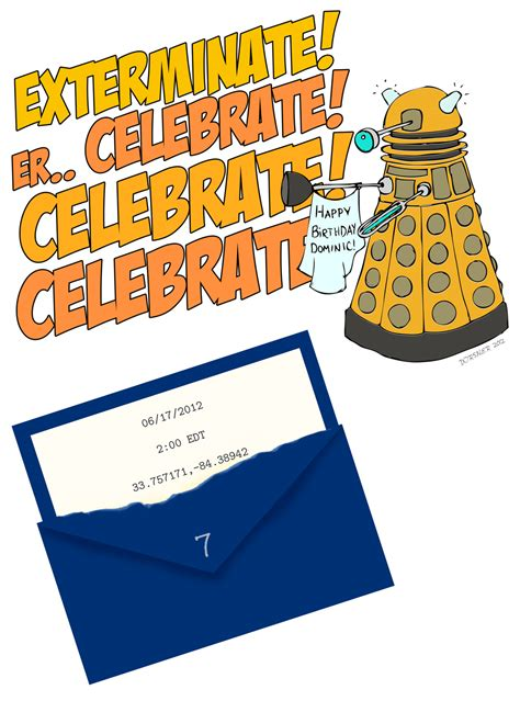 dabbled dr who birthday party invitation downloadable