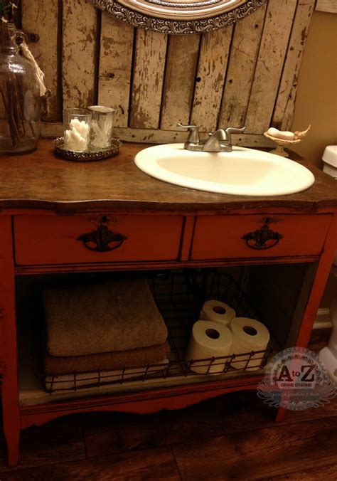 repurposed furniture for bathroom vanity hometalk diy dresser vanity for a small bath