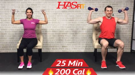 min chair exercises sitting  workout hasfit