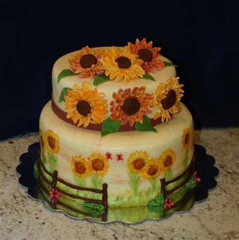 theme bridal shower cake 2 sunflower bridal shower cake cakecentral