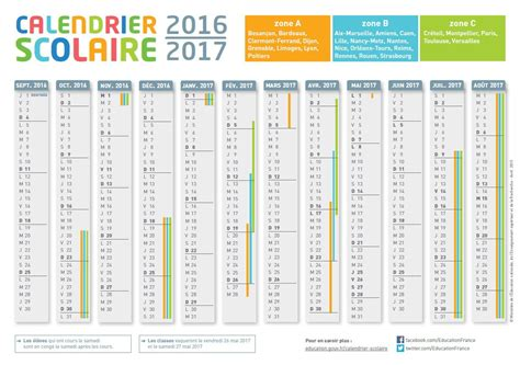 Calendrier Scolaire Vacances 2016 2017 Calendrier Scolaire 2016 Image King