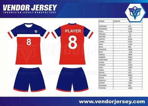 jersey futsal desain depan belakang kerah pembuatan jersey futsal polyflex dengan logo printable