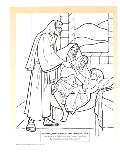 coloring pages jesus raising widow s free widow of nain coloring pages