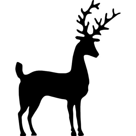imagenes de venados a blanco y negro silueta de los ciervos descargar iconos gratis