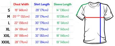 Shirt size chart size chart mr vintage t shirts apparel gifts