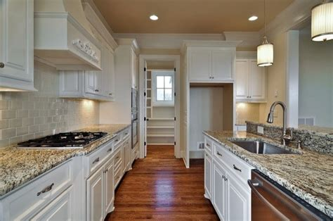 Kitchens With Granite Countertops White Cabinets White Kitchen Cabinets Gray Granite Countertops Design Ideas