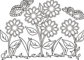 garden coloring butterfly and flower in the garden colouring butterfly