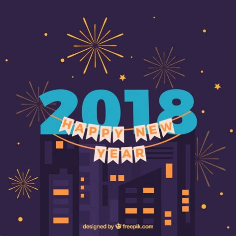 new year in city celebrating new year in a city vector free