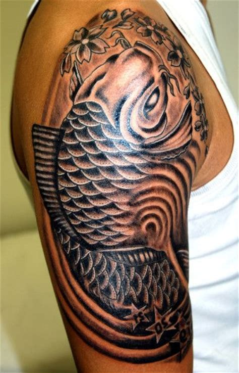 tribal fish tattoos for men tribal fish tattoos for s half sleeve arm tattoosk