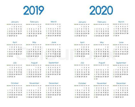 year    vector calendar stock vector colourbox