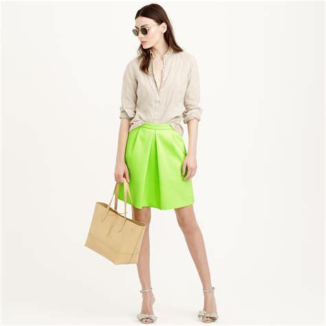 j crew pleat front mini skirt in yellow lyst