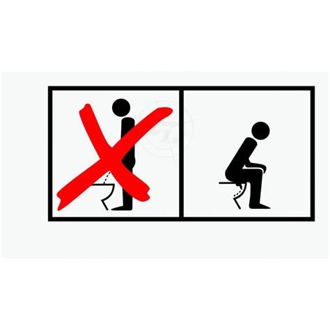 Toiletten Aufkleber Kinder by Wc Aufkleber M 228 Nner Im Sitzen Pullern