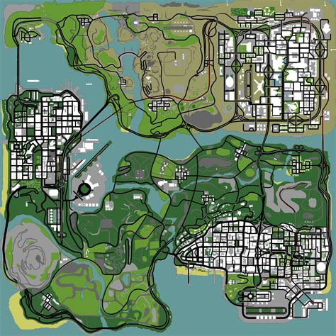 san andreas map map horseshoes oysters snapshots maps location ps2 pc xbox gta san andreas