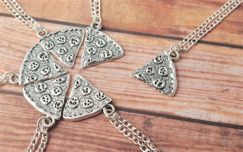 pizza necklace one slice pizza friendship necklace best