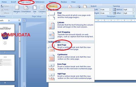 makalah format data pada excel 2007 format nomor halaman makalah cara membuat nomor halaman
