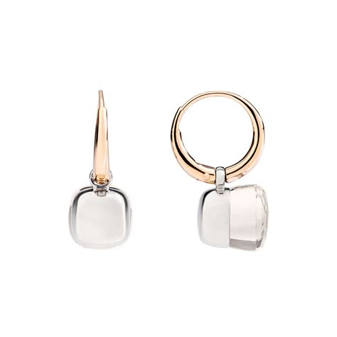 pomellato nudo earrings pomellato small white topaz quot nudo quot earrings betteridge