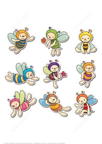 printable bee stickers cute bee printable stickers free printable papercraft