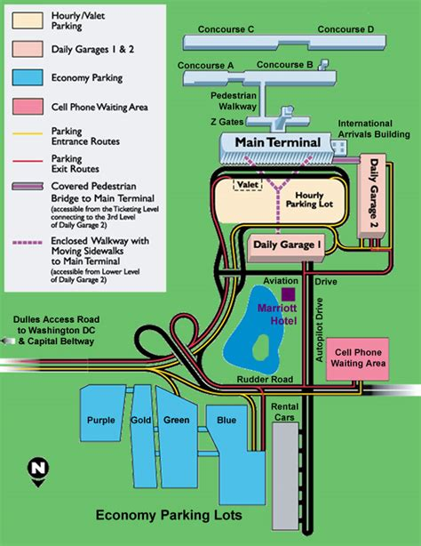 iad airport map dulles airport parking