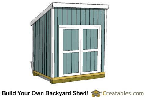 6x10 Lean To Shed 6x8 Lean To Shed Plans Icreatables