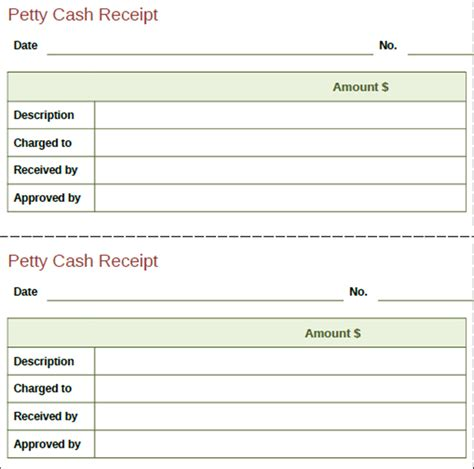 12 receipt templates free printable word excel pdf