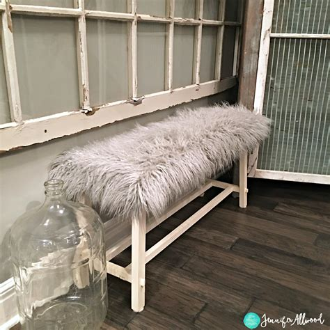 covered bench diy fur covered bench recovering a plain bench magic brush