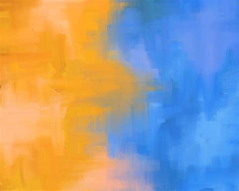 blue and orange digital painting orange and blue 1 it happened so fast