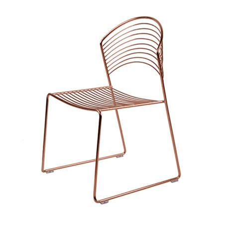 gold metal wire chair wholesale serenity made
